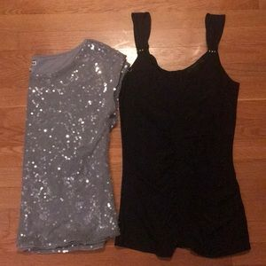 """Set of 2 Size Small """"going out"""" express tops"""